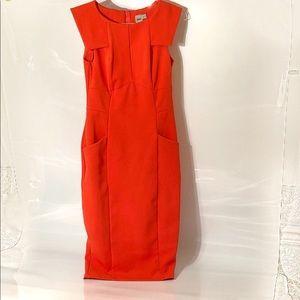 ASOS Sexy Pencil Dress Orange Size 8